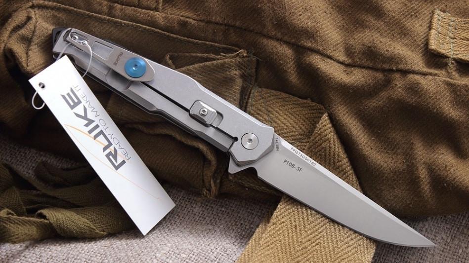 P108-SF серый – Ruike - бюджетный нож на карман