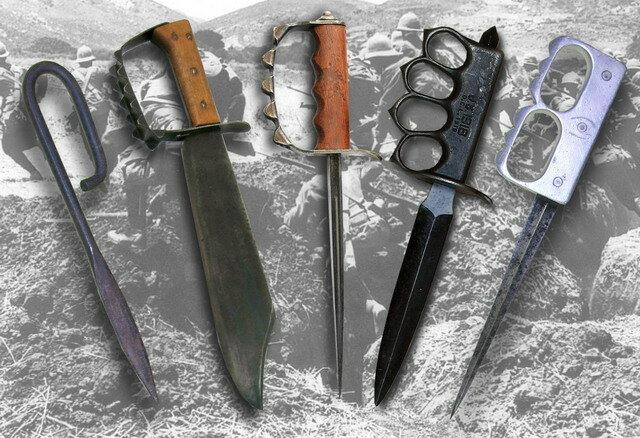 Смертоносное и бескомпромиссное оружие окопной войны - траншейные ножи
