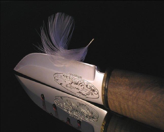 Как проверить заточку ножа?