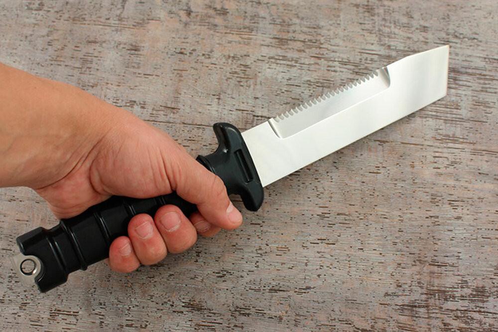 Советский водолазный нож НВ с винтовой резьбой – это вам не современная поделка!