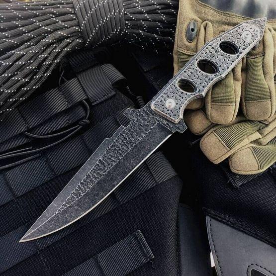 Тактический военный нож ручной работы