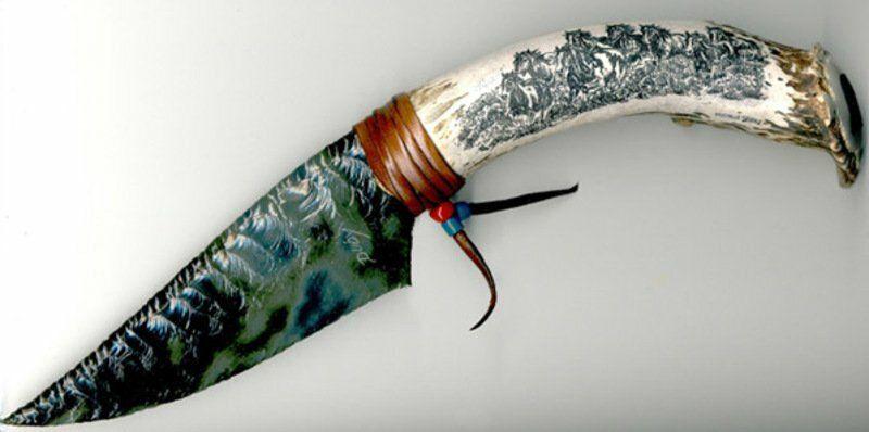 Нож из вулканического стекла