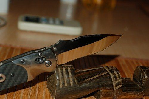 Зеркальная полировка ножа