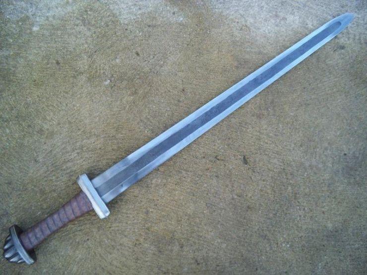 Дамаск продольно-слойный или ламинат из стали и железа
