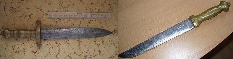 Появление окопных ножей