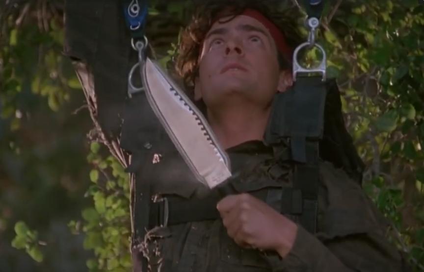 Доработанный нож Рембо из фильма «Горячие головы» - ультимативный мультитул (но это не точно)