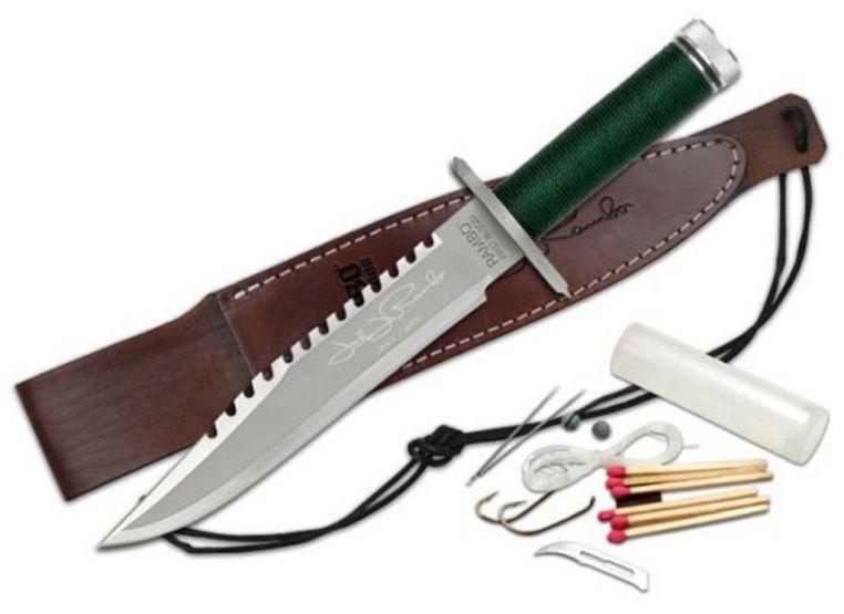 Конструкция типичного ножа для выживания