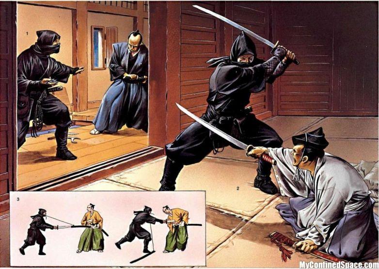 Ножны меча ниндзя