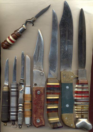 Основные типы ножей на зоне